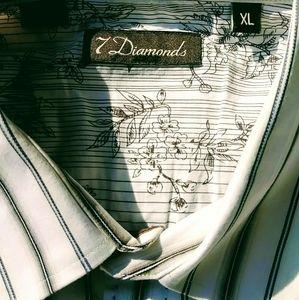 """""""7 Diamonds"""" Button-Up Shirt"""